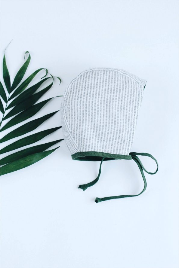 basil-linen-stripes-cotton-baby-bonnet