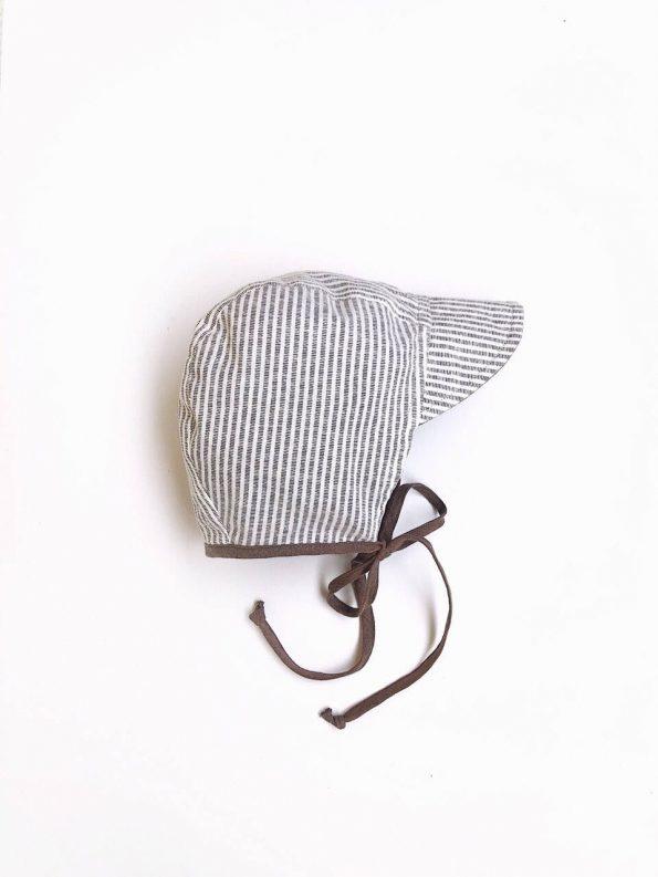 brimmed-taupe-linen-stripes-cotton-baby-bonnet
