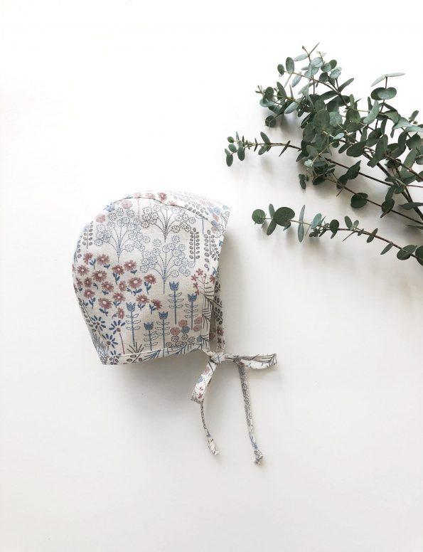 meadow-bouquet-linen-baby-bonnet-front