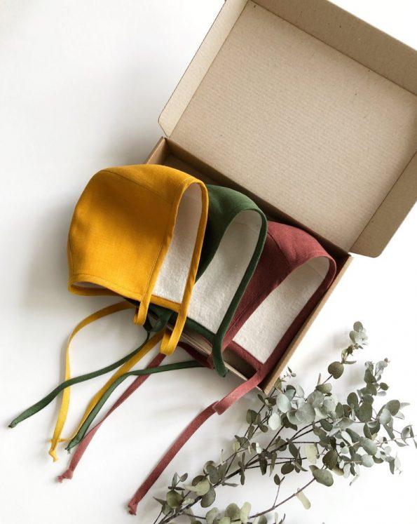 mustard-linen-sherpa-lined-baby-bonnet