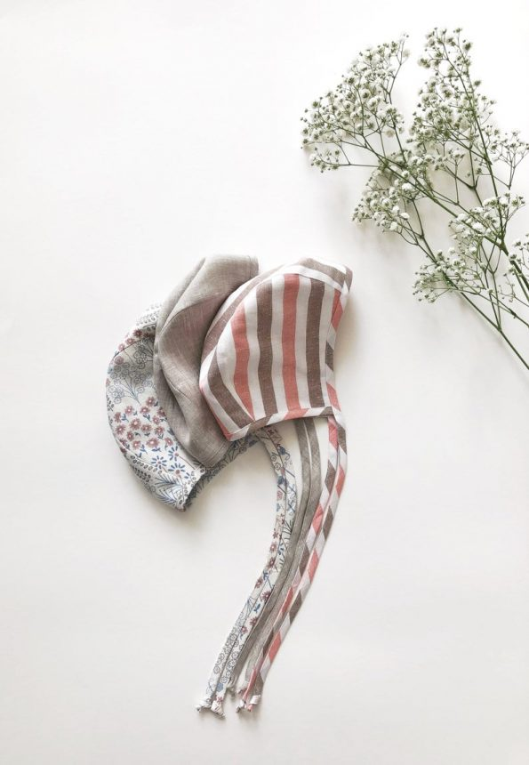 oats-melange-linen-baby-bonnet-front