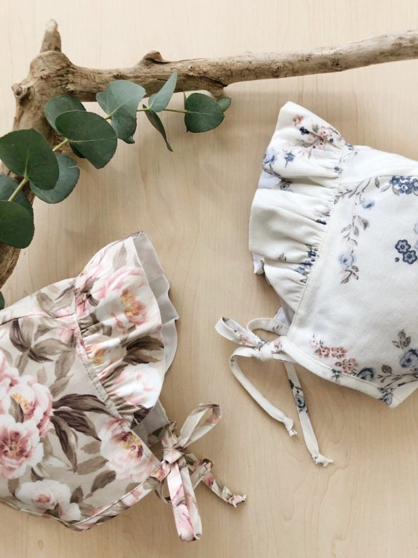 ruffle-brimmed-peonies-blossom-cotton-baby-bonnet-close