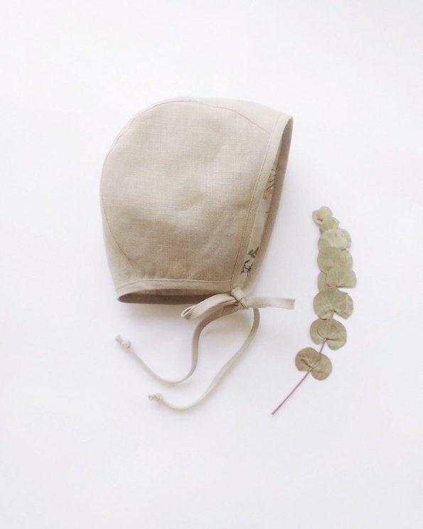 yarrow-beige-linen-baby-bonnet-front
