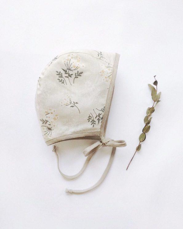 yarrow-floral-cotton-baby-bonnet-front